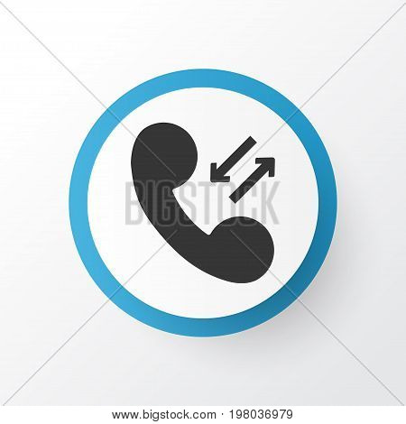 Premium Quality Isolated Call Element In Trendy Style.  Phone Icon Symbol.