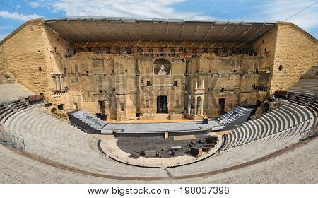 Ancient Roman theater in Orange southern France