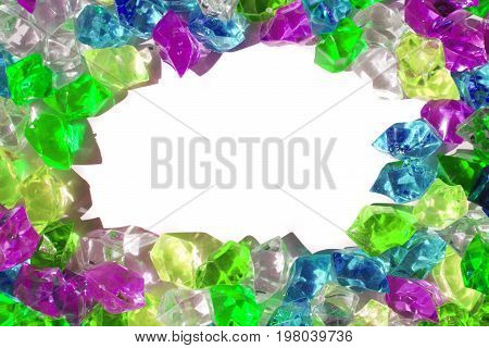 Color Plastic Diamonds