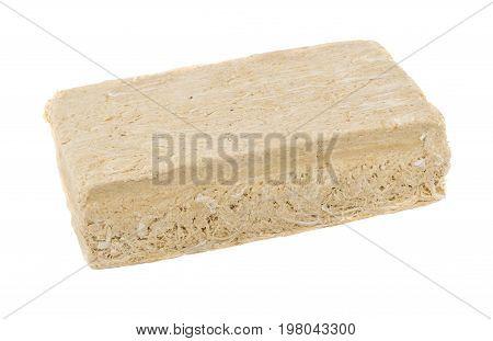 Piece Of Peanut Halva Isolated On White