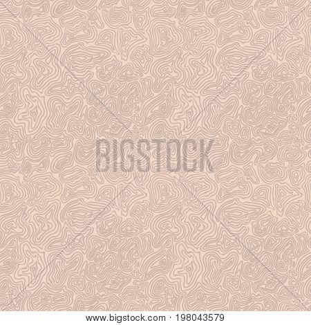 Vector nude circle seamless pattern. Beige illustration