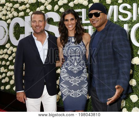 LOS ANGELES - AUG 1:  Chris ODonnell, Daniela Ruah, LL Cool J at the CBS TV Studios Summer Soiree TCA Party 2017 at the CBS Studio Center on August 1, 2017 in Studio City, CA