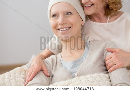 Woman Supported By Friend