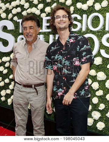 LOS ANGELES - AUG 1:  Joe Mantegna, Matthew Gray Gubler at the CBS TV Studios Summer Soiree TCA Party 2017 at the CBS Studio Center on August 1, 2017 in Studio City, CA