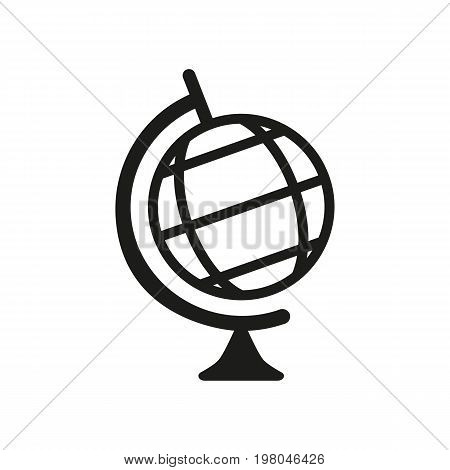 Icon of geographical globe. Sphere, world, map. Science concept. Can be used for topics like education, knowledge, traveling