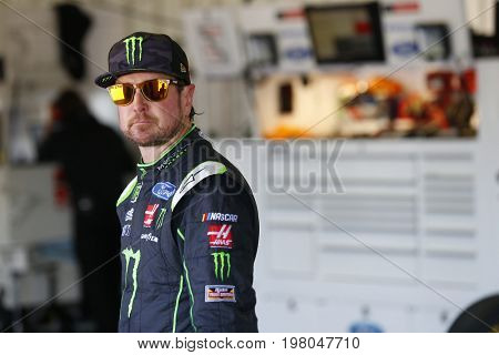 July 29, 2017 - Long Pond, Pennsylvania, USA: Kurt Busch (41) hangs out in the garage during practice for the Overton's 400 at Pocono Raceway in Long Pond, Pennsylvania.