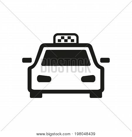 Icon of taxi cab. Conveying, private hire vehicles, car. Transportation concept. Can be used for topics like public transport, service, city life