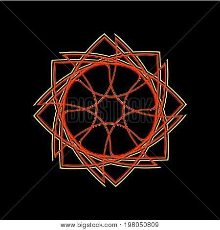 Beautiful And Symmetrical Geometric Pattern