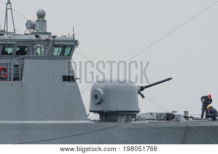 PATROL SHIP - Lithuanian warship on patrol