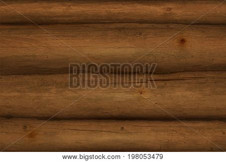 Realistic Wooden Logs. Vector Wooden Texture.
