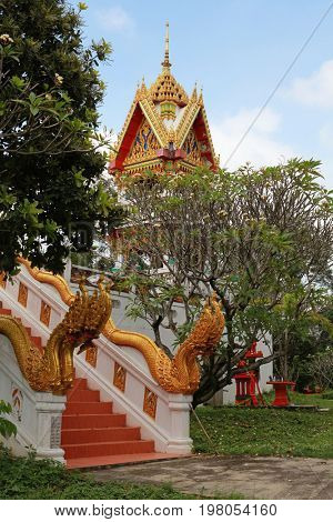 beautiful Buddhist temple gable, Thailand
