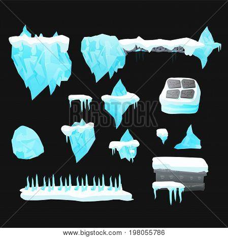 elements for game development - location. Level design. Ice land