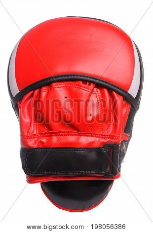 Boxing Paws On A White Background Red