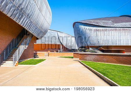 Rome Italy - March 12 2014: The Parco Della musica complex designed by Renzo Piano