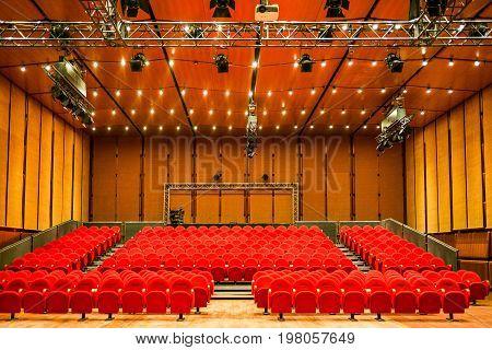 Rome Italy - March 12 2014: The Sala Petrassi in the Parco Della musica complex designed by Renzo Piano