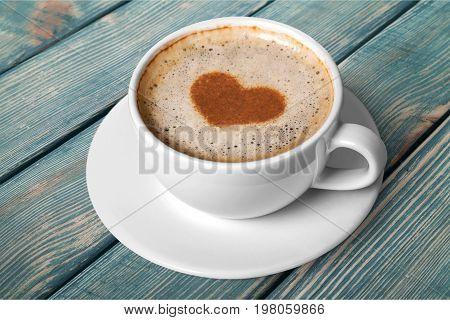 Coffee heart foam shaped hot drink coffee mug hot coffee