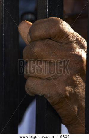 Hand Clutching Pole