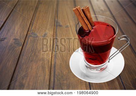 Glass wine sticks cinnamon mulled bar color