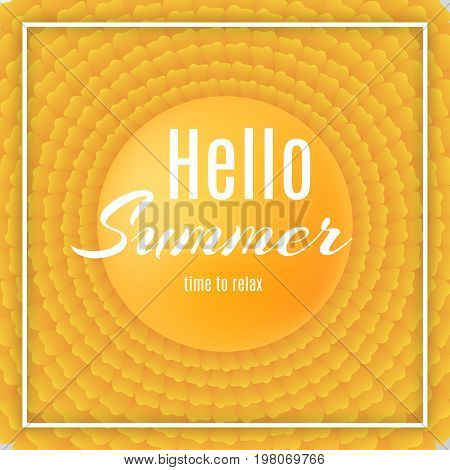 Abstract Yellow Petals. Holliday Summer Background.