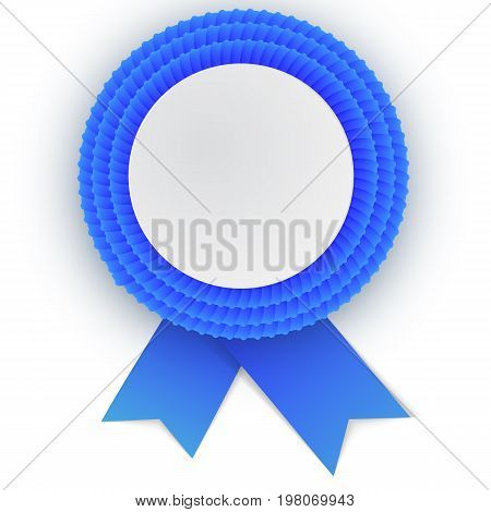 Colorful  Blue Rosette With Empty Paper Plate