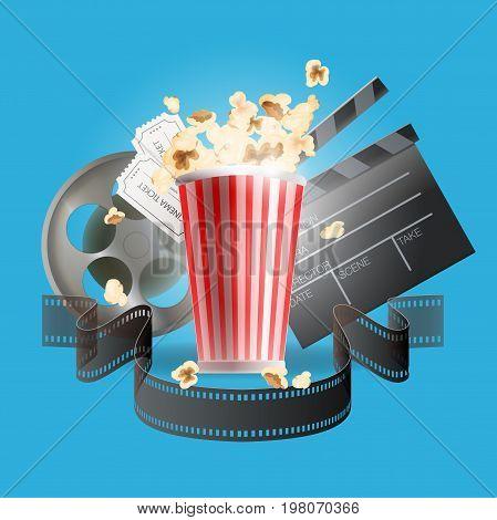Vector illustration. Banner for the cinema and filmmaker