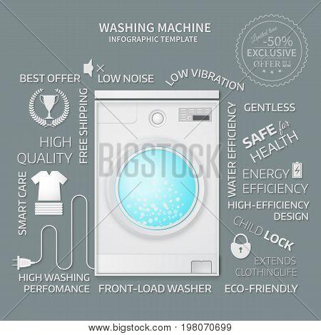 Vector Illustration Of Washer