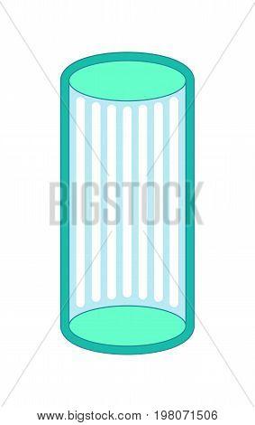 Solarium is vertical isolated. Apparatus for sunbathing.
