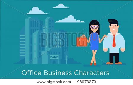Set Of Office  Business Characters.