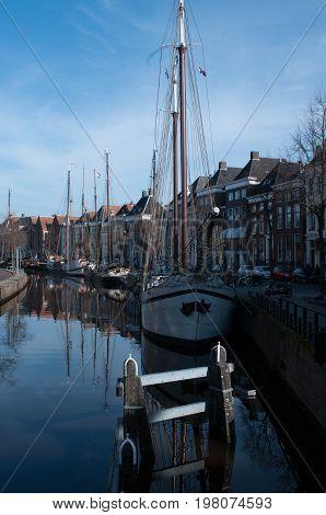 binnenstad van Groningen op een koude voorjaars dag