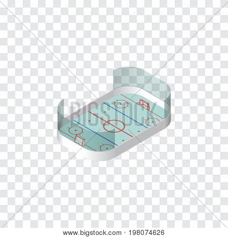 Ice Games Vector Element Can Be Used For Hockey, Playground, Ice Design Concept.  Isolated Hockey Isometric.