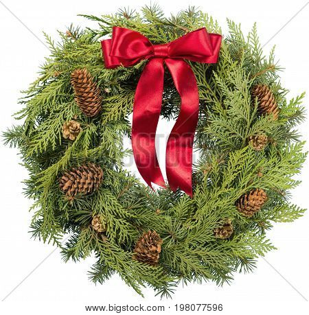 Christmas tree fir wreath made happy holidays color