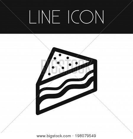 Triangle Snack Vector Element Can Be Used For Hamburger, Burger, Snack Design Concept.  Isolated Burger Outline.
