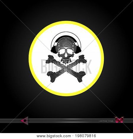 Vector. The Sign Of Danger. Yellow Circle