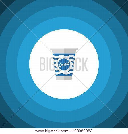 Yogurt Vector Element Can Be Used For Cream, Yogurt, Custard Design Concept.  Isolated Cream Flat Icon.