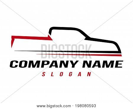 Sport truck logo on a white background