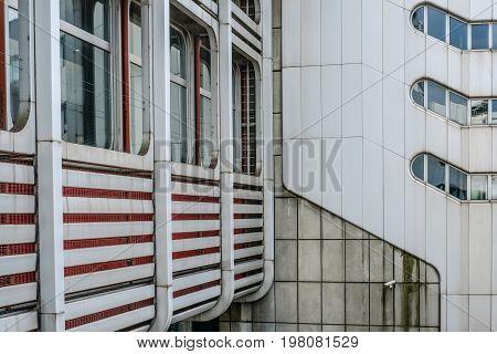 Facade, Building Detail Of The International Congress Center (icc) In Berlin