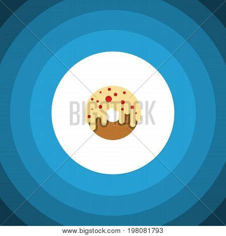 Doughnut Vector Element Can Be Used For Donuts, Doughnut, Dessert Design Concept.  Isolated Donuts Flat Icon.