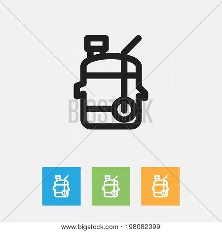 Vector Illustration Of Cook Symbol On Juicer Outline