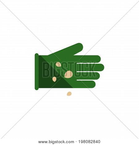 Glove Vector Element Can Be Used For Glove, Seed, Sow Design Concept.  Isolated Legume Flat Icon.