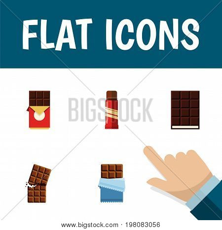 Flat Icon Bitter Set Of Bitter, Dessert, Sweet And Other Vector Objects
