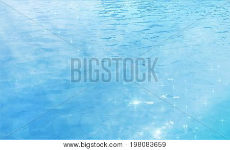 Illustration  of Abstract Water Background with Ripple. Water Waves Effects. Ocean or Sea Surface. Summer light background. eps 10  vector background.