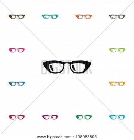 Frame Vector Element Can Be Used For Frame, Sunglasses, Eyeglasses Design Concept.  Isolated Sunglasses Icon.