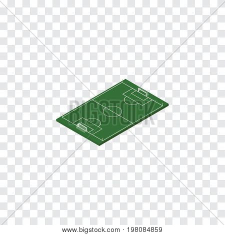Soccer Vector Element Can Be Used For Football, Soccer, Stadium Design Concept.  Isolated Football Isometric.
