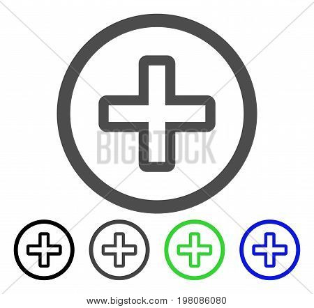 Create flat vector pictograph. Colored create, gray, black, blue, green icon versions. Flat icon style for application design.