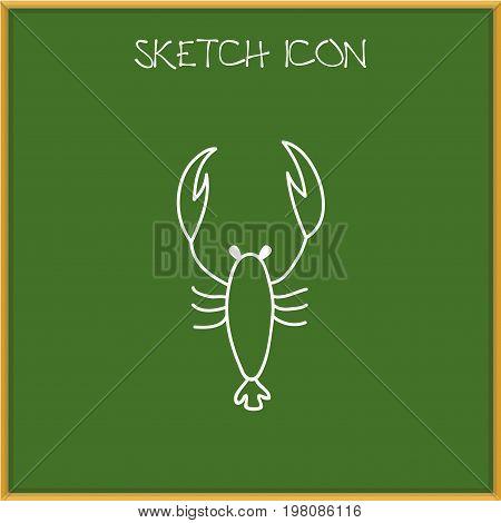 Vector Illustration Of Animal Symbol On Scorpion Doodle