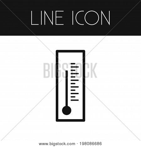 Thermometer   Vector Element Can Be Used For Thermometer, Mercury, Temperature Design Concept.  Isolated Temperature Outline.