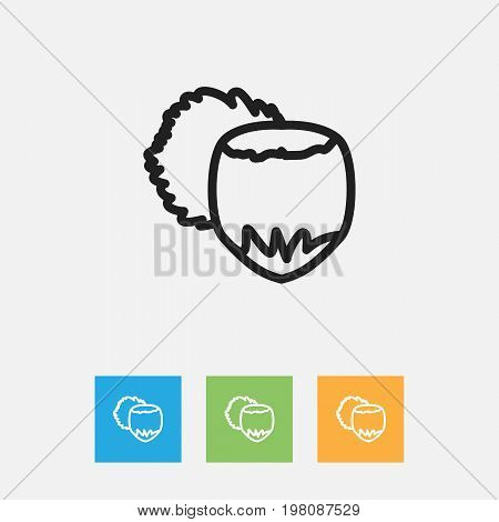 Vector Illustration Of Cooking Symbol On Filbert Outline
