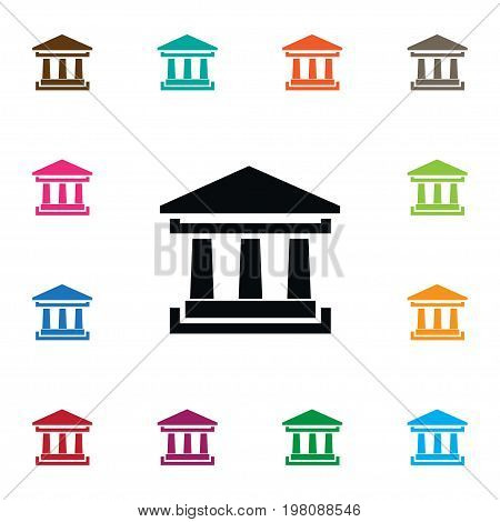 Courthouse Vector Element Can Be Used For Academy, Courthouse, Theater Design Concept.  Isolated Academy Icon.
