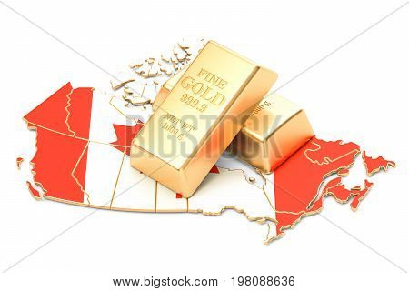 Foreign-exchange reserves of Canada concept 3D rendering isolated on white background