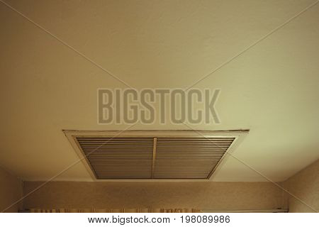 Large Square Return Air Vent Located In The Ceiling Of A Home..
